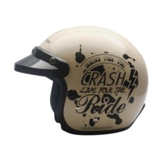 Cargloss Retro Crash Ride Helm Half Face - Avorio Naide