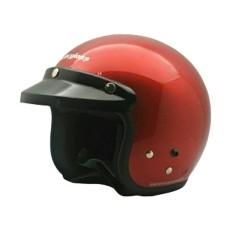 Cargloss Retro Helm Half Face - Deep Red Met