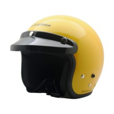 Toko Cargloss Retro Helm Half Face Excotic Yellow Glossy Online Terpercaya
