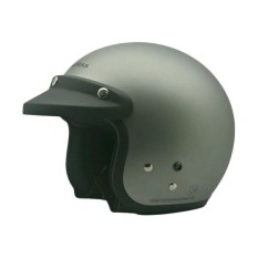 Cargloss Retro Helm Half Face - Silver Doff
