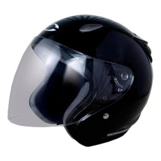 Cargloss YCN Oackley Helm Half Face - Deep Black