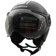 Helm Cargloss YR Protect Helm Half Face - Deep Black SG