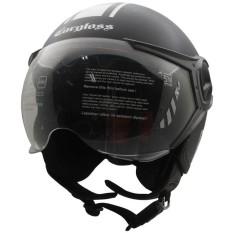 Helm Cargloss YR Protect Helm Half Face - Deep Black SG