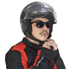 Cargloss YR Protect SG Fitur Kacamata Helm Half Face - Gun Metal