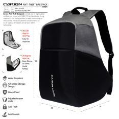 Harga Carion Tas Ransel Anti Theft Laptop Backpack Pria Wanita Daypack 710024 Original
