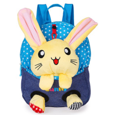 Situs Review Kartun Anak Anak Sch**l Bags Baby Backpack Tas Boneka Travel Backpack Blue Rabbit