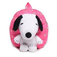 Kartun Anak Balita Baby Boy Girl Bayi Taman Kanak-kanak Sekolah Dasar Kartun Anak Imut's Schoolbag Kindergarten Baby Shoulder Bag Snoopy Dog 1-3 Tahun Backpack Cute Backpack-Intl