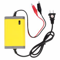 Jual Cas Aki Portable Motorcrycle Car Battery Charger 12V 2A Kuning Baru