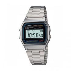 Casio A158Wa 1D Jam Tangan Unisex Stainless Silver Jawa Barat
