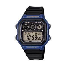 Casio AE-1300WH-2AVDF - Jam Tangan Pria - Resin - Hitam Biru