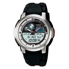 Casio Analog Digital AQF-102W-7BV Thermometer Men's Watch - Silver/Black