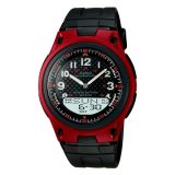 Diskon Casio Analog Digital Aw 80 4Bv Men S Watch Black Red Branded