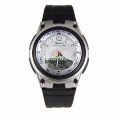 Casio Analog Digital AW-80-7A2V - Jam Tangan pria - Black Silver  - Strap Resin - LM
