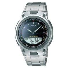 Pusat Jual Beli Casio Analog Digital Aw 80D 1Av Jam Tangan Pria Silver Hitam Banten