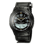 Harga Casio Analog Digital Aw 80V 1Bv Kanvas Strap Men S Watch Black Online Banten