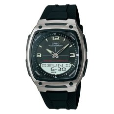 Jual Casio Analog Digital Aw 81 1A1V Men S Watch Black Silver Lengkap