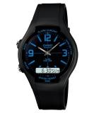 Penawaran Istimewa Casio Analog Digital Watch Aw 90H 2Bvdf Jam Tangan Unisex Karet Hitam Terbaru