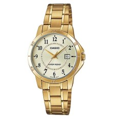Casio Analog LTP-V004G-9B - Jam Tangan Wanita - Gold - Stainless Steel Band