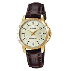 Spesifikasi Casio Analog Ltp V004Gl 9A Jam Tangan Wanita Brown Gold Leather Band Casio Terbaru