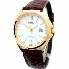 Toko Casio Analog Pria Watch Brown Leather Band Mtp 1183E 7A Intl Murah Indonesia