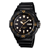 Toko Casio Analog Mrw 200H 1Ev Men S Watch Black Orange White Di Banten