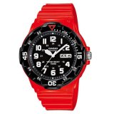 Beli Casio Analog Mrw 200Hc 4Bv Men S Watch Red Black Cicilan