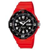 Casio Analog Mrw 200Hc 4Bv Men S Watch Red Black Asli