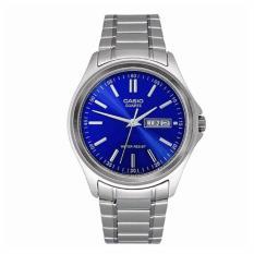 Iklan Casio Analog Mtp 1239D 2A Jam Tangan Pria Silver Blue Stainless Steel
