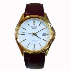 Spesifikasi Casio Analog Mtp1183Q 7A Original Jam Tangan Unisex Pria Dan Wanita Leather Strap Coklat Gold Yg Baik