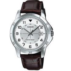 Pusat Jual Beli Casio Analog Watch Jam Tangan Pria Cokelat Strap Kulit Mtp V008L 7B2Udf Indonesia