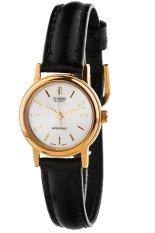 Spesifikasi Casio Analog Watch Jam Tangan Wanita Hitam Leather Strap Ltp 1095Q 7A Murah