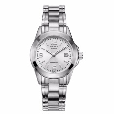 Casio Analog Wanita Watch Silver Stainless Steel Band LTP-1215A-7A-Intl