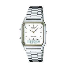 Casio AQ-230A-7DMQ Silver White Casual Jam Tangan Wanita