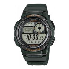 CASIO Army Illuminator AE-1000W-3AVDF - Jam Tangan Pria - Tali Karet - Digital Movement