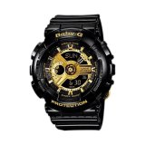 Toko Casio Baby G Ba 110 1A Analog Digital Women S Watch Black Gold Termurah
