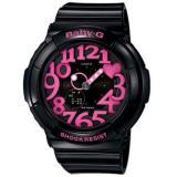 Beli Casio Baby G Bga 130 1B Jam Tangan Wanita Strap Rubber Hitam Lis Pink Dengan Kartu Kredit