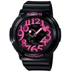 Spesifikasi Casio Baby G Bga 130 1B Jam Tangan Wanita Strap Rubber Hitam Lis Pink Lengkap