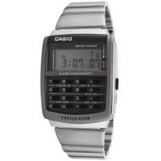 Casio Calculator Jam Tangan Pria - Silver - Strap Rantai - CA-506