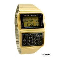 Casio Calculator Jam Tangan Wanita - Gold - Strap Rantai - DBC-610GA-1