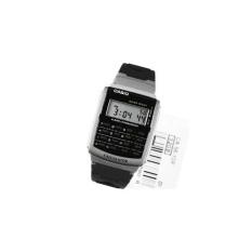 Casio Calculator Kalkulator Jam Tangan Karet Hitam CA-56-1D Original
