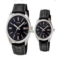 Casio Couple MTP Dan LTP-1302L-1AV - Jam Tangan Couple - Black  - Strap Leather