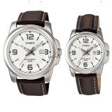 Beli Casio Couple Mtp Dan Ltp 1314L 7A Jam Tangan Couple Brown Strap Leather Seken