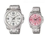 Cara Beli Casio Cp028 Couple Watch Silver Stainless Steel