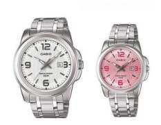 Jual Casio Cp028 Couple Watch Silver Stainless Steel Original