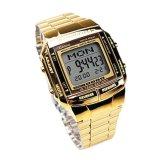 Review Toko Casio Databank Original Db 360G 9A Jam Tangan Pria Dan Wanita Gold Stainless Steel Online