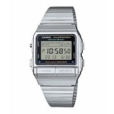 CASIO DB-380-1DF - Data Bank - Telememo - Dual Time - Jam Tangan Unisex - Bahan Tali Stainless Steel - Silver