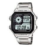 Spesifikasi Casio Digital Ae 1200Whd 1Av Stainless Steel Men S Watch Silver Murah