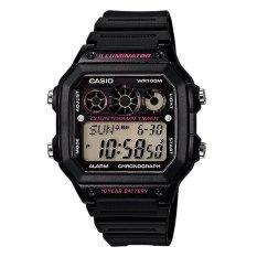 Casio Digital AE-1300WH-1A2V Men's Watch - Black/Pink