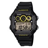 Promo Casio Digital Ae 1300Wh 1Av Men S Watch Black Yellow Casio Terbaru