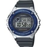 Spesifikasi Casio Digital Jam Tangan Pria Biru Strap Karet W 216H 2A Baru